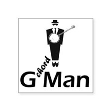 "G Chord Man Square Sticker 3"" x 3"""