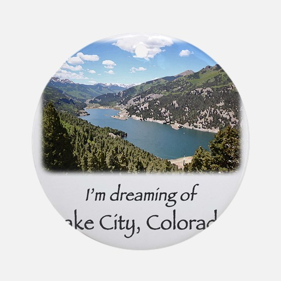 Lake City Dreaming Round Ornament