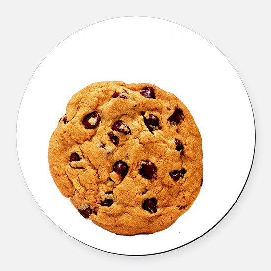 Powered By Cookie Round Car Magnet