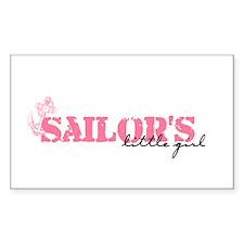 Sailor's Little Girl Rectangle Decal