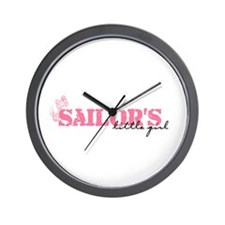 Sailor's Little Girl Wall Clock