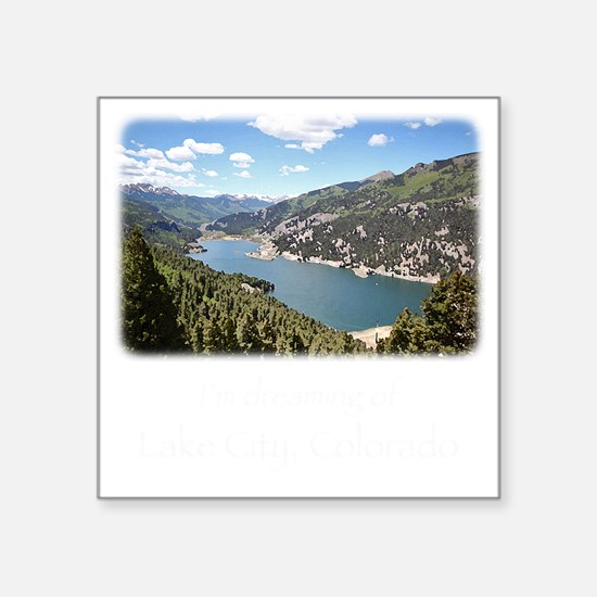 "Lake City Dreaming Square Sticker 3"" x 3"""