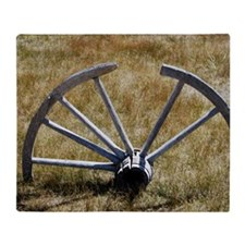 Carriage Wheel Throw Blanket