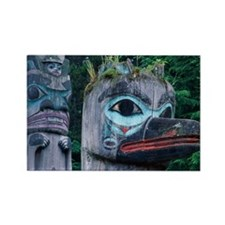 TLINGIT TOTEM POLES, SAXMAN PARK, Rectangle Magnet