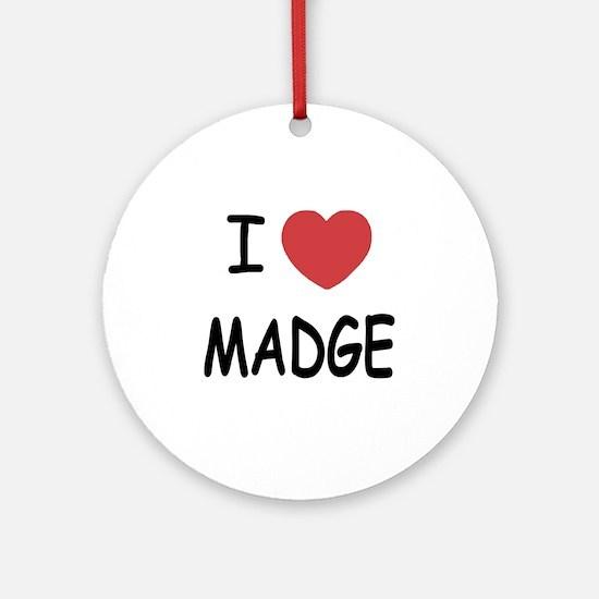 I heart MADGE Round Ornament
