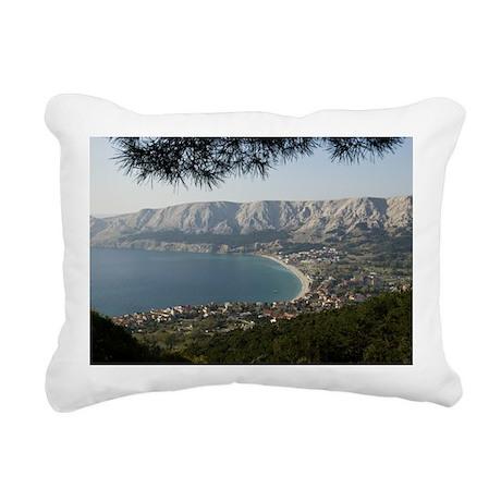 View west over the villa Rectangular Canvas Pillow