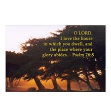 Psalm 26:8 Postcards (Package of 8)