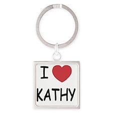 I heart KATHY Square Keychain
