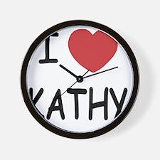 I heart KATHY Wall Clock