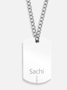 Sachi - white kanji Dog Tags