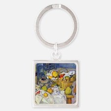 Paul Cezanne Still Life with Fruit Square Keychain