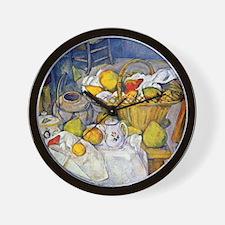 Paul Cezanne Still Life with Fruit Bask Wall Clock
