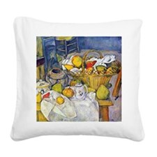 Paul Cezanne Still Life with  Square Canvas Pillow