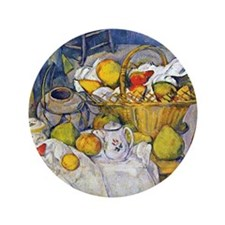 "Paul Cezanne Still Life with Fruit Bas 3.5"" Button"