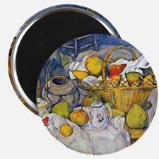 Paul Cezanne Still Life with Fruit Basket Magnet