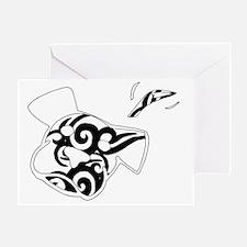 BW tattoo Greeting Card