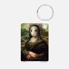 Mousie Lisa Aluminum Photo Keychain