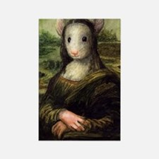 Mousie Lisa Rectangle Magnet