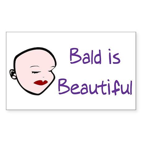 Bald Is Beautiful Rectangle Sticker