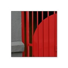 """Red Passion Gate Note Card Square Sticker 3"""" x 3"""""""