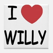 I heart WILLY Tile Coaster
