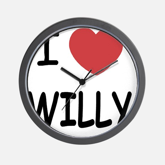 I heart WILLY Wall Clock