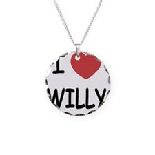 I heart WILLY Necklace Circle Charm