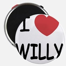 I heart WILLY Magnet