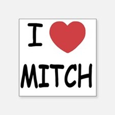 "I heart MITCH Square Sticker 3"" x 3"""