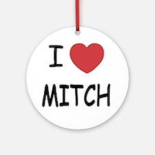 I heart MITCH Round Ornament