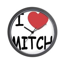 I heart MITCH Wall Clock
