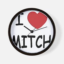 I heart MITCH Wall Clock