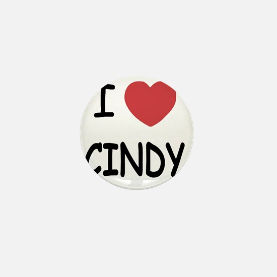 I heart CINDY Mini Button