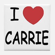 I heart CARRIE Tile Coaster