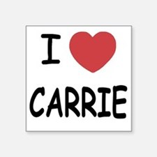 "I heart CARRIE Square Sticker 3"" x 3"""