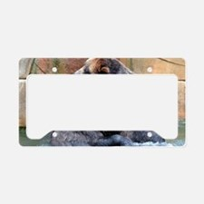 Bear Hug License Plate Holder