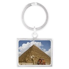 Pyramid Landscape Keychain