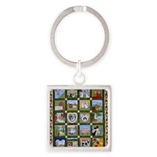 2012 Hav A Heart Quilt Square Keychain