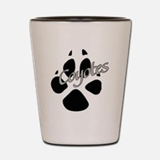 Coyote Paw Shot Glass