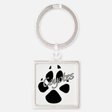 Coyote Paw Square Keychain