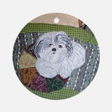 Happy at Home by Alexandria Kuman Round Ornament