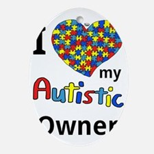 Autistic Owner Oval Ornament