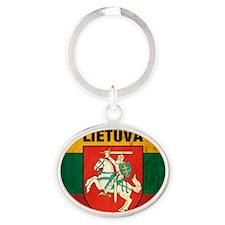 Lithuania Oval Keychain