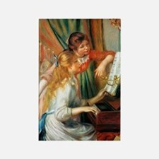 Renoir Girls At The Piano Rectangle Magnet