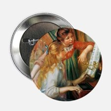 "Renoir Girls At The Piano 2.25"" Button"