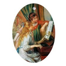 Renoir Girls At The Piano Oval Ornament