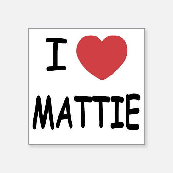 "I heart MATTIE Square Sticker 3"" x 3"""