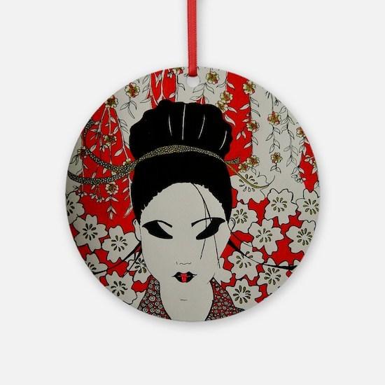 oriental red Round Ornament