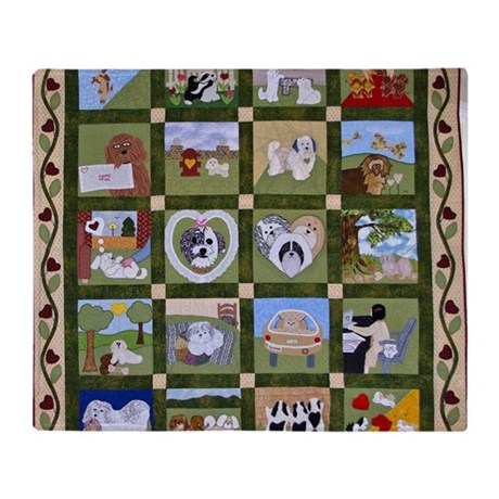 2012 Hav A Heart Quilt Throw Blanket