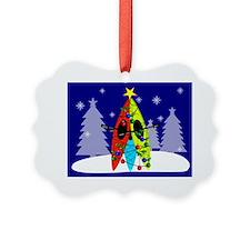 Kayaking Christmas Card Gails Ornament